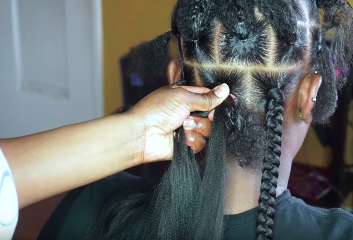 Jumbo Box Braids Rubber Band Method Ebena