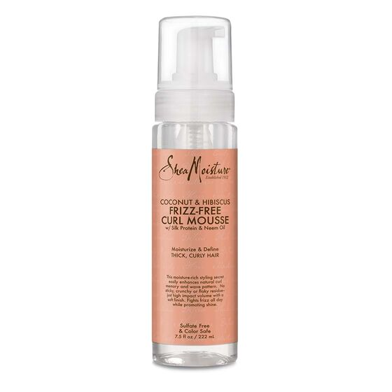 SheaMoisture Curl Hair Mousse for Frizz Control Coconut and Hibiscus with Shea Butter