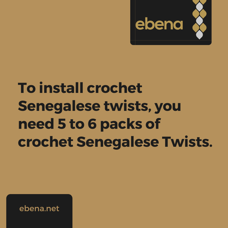 how to install crochet Senegalese twists