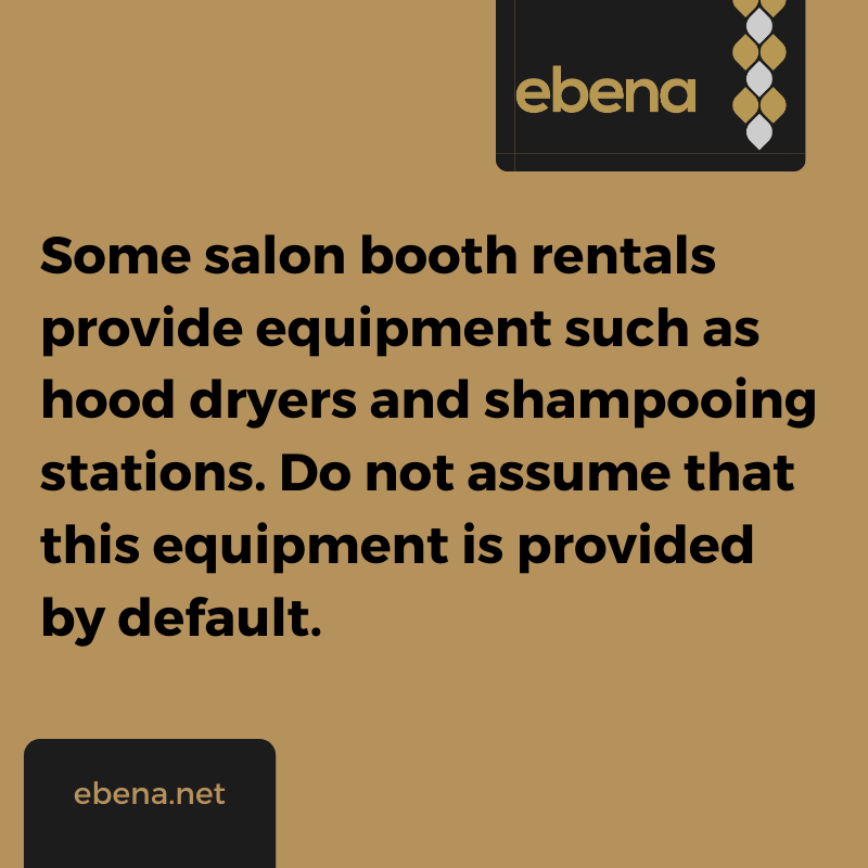 salon booth rental equipment