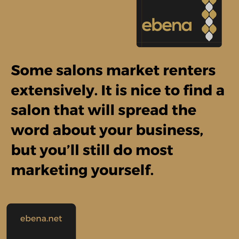 salon booth rental marketing