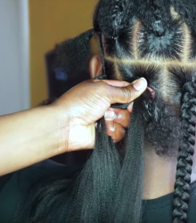 Jumbo Box Braids - Rubber band method